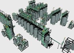 CAD-Darstellung von Skids